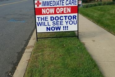 immediate-care-833-sidewalk-sign